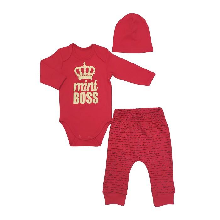 Комплекты детской одежды Veddi Комплект для мальчика (боди, ползунки, шапочка) mini Boss boss комплекты