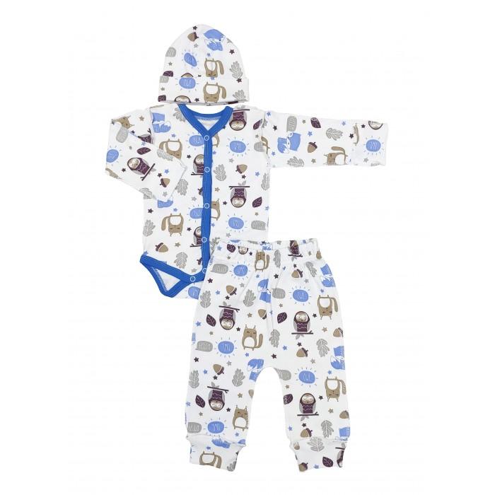 Комплекты детской одежды Veddi Комплект для мальчика (боди, ползунки, шапочка)