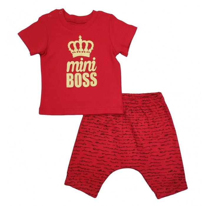 Комплекты детской одежды Veddi Комплект для мальчика (футболка, шорты) mini Boss boss комплекты