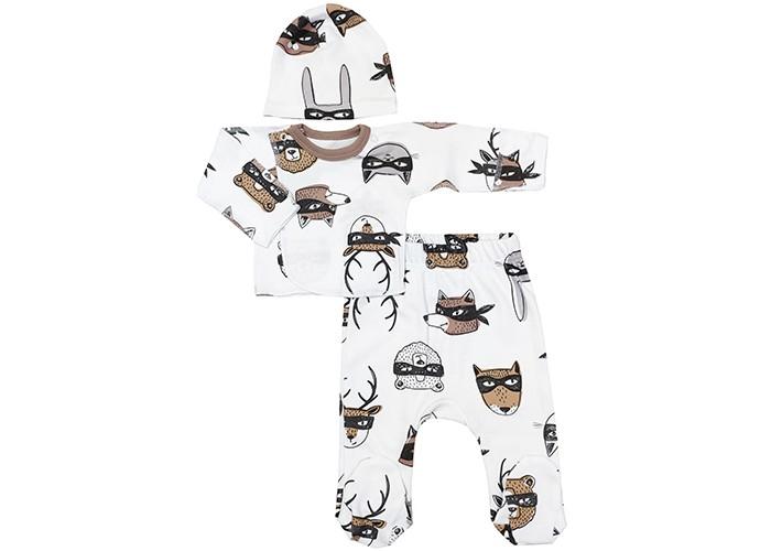 Фото - Комплекты детской одежды Veddi Комплект для мальчика (шапочка, распашонка, ползунки) распашонки и ползунки bonito kids ползунки для мальчика коала