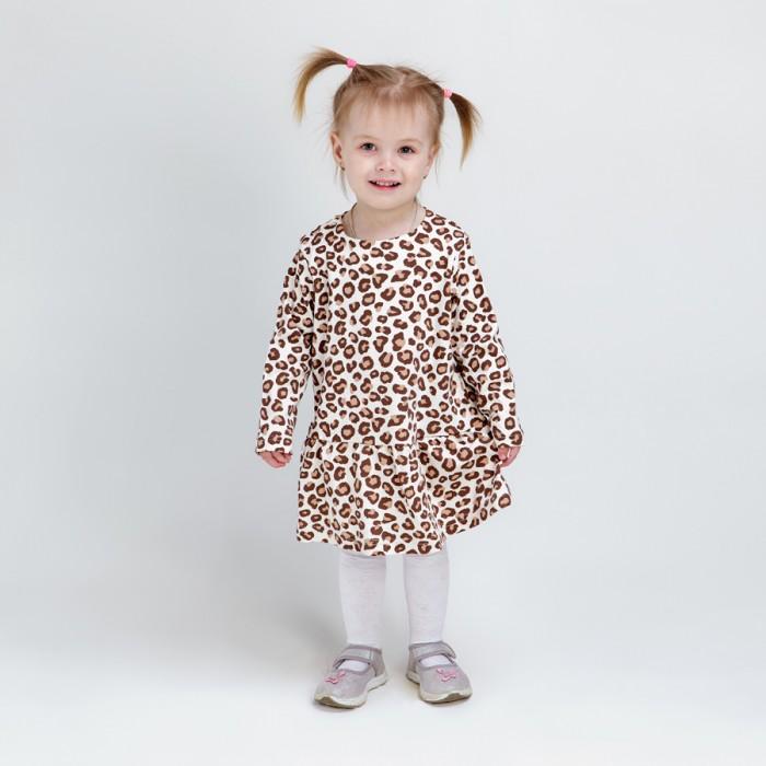 платья и сарафаны ёмаё платье для девочки стильняшки 12 301 Платья и сарафаны Veddi Платье для девочки Леопард