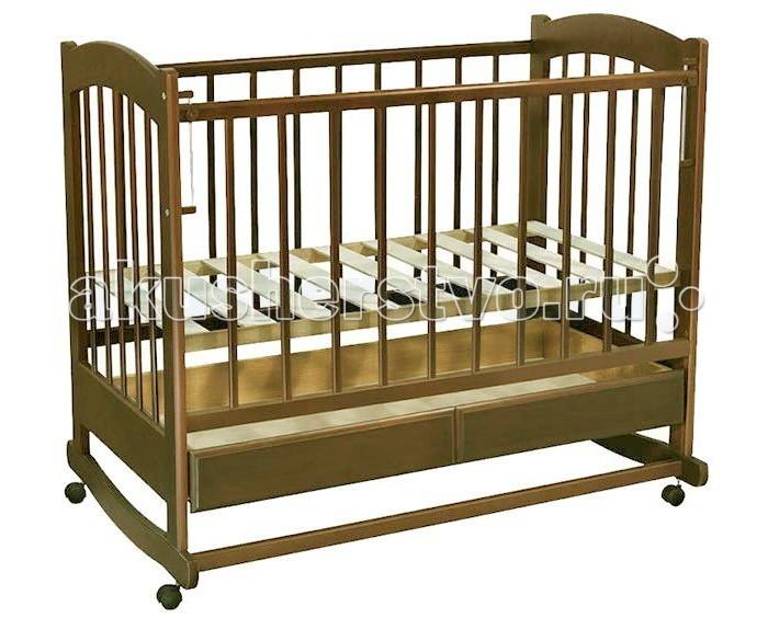 Детские кроватки Ведрусс Радуга №1 качалка обычная кроватка ведрусс радуга 4 вишня