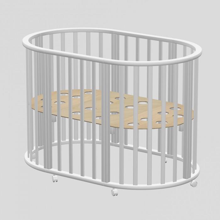 Кроватка-трансформер Ведрусс Оливия овальная 3 в 1Оливия овальная 3 в 1Кровать-трансформер Ведрусс Оливия New овальная 3 в 1 - непревзойденное качество и комфорт с самого рождения!  Нестандартная Кроватка Оливия овальная 3 в 1 может принимать круглую или овальную форму. Она предназначается для малышей в возрасте до трёх лет. Важным плюсом считается то, что спальное дно можно поднимать или опускать. Кроватка оснащена колёсиками, чтобы проще было передвигать её по квартире.  Кроватка Оливия овальная 3 в 1 создана таким образом, чтобы со всех сторон она проветривалась. Даже в ложе имеются специальные вентиляционные отверстия. Вашему ребёночку однозначно полюбится эта модель.  Особенности: Экологически чистые, тщательно отшлифованные материалы, Нетоксичное лако-красочное покрытие, полностью гипоаллергенно, Спальное дно с дырочками для оптимальной вентиляции, Регулировка высоты спального ложа, три уровня, Восемь поворотных колес для удобства уборки и убаюкивания малыша, Трансформируется в диванчик, просторный манеж. Размер круглого подматрасника: 75x75 см Размер овального подматрасника: 125x75 см  К кроватке можно докупить и установить маятниковый механизм (устанавливается вместо колес).<br>