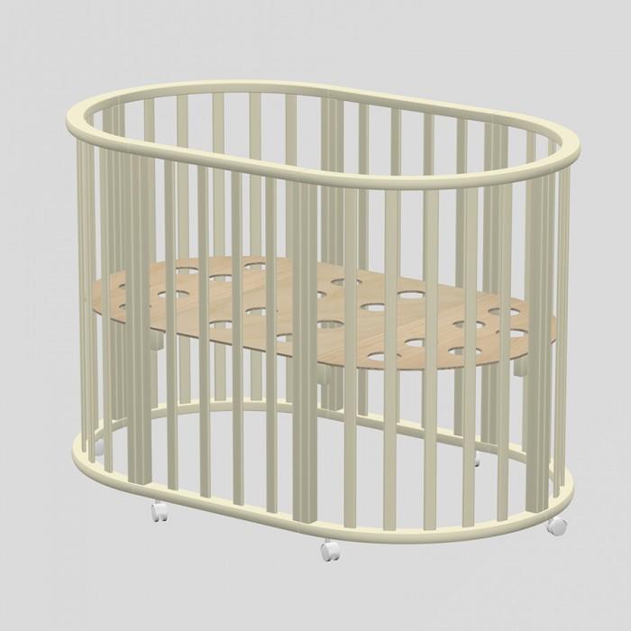 Детская мебель , Кроватки-трансформеры Ведрусс Оливия овальная 3 в 1 арт: 382004 -  Кроватки-трансформеры