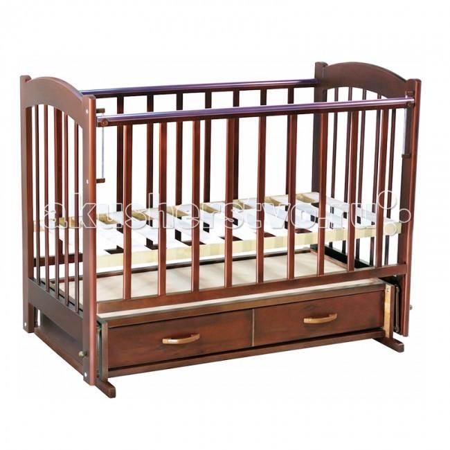 Детская кроватка Ведрусс Радуга №4 маятник поперечный