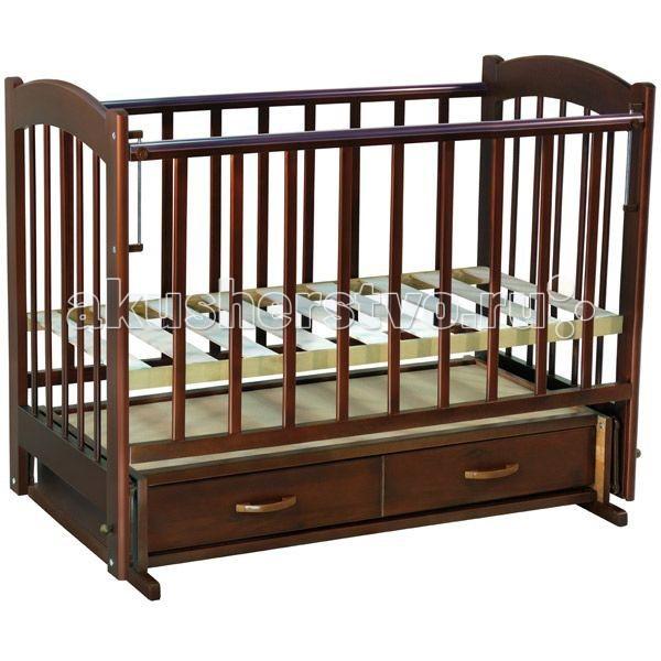 Детские кроватки Ведрусс Радуга №4 маятник поперечный обычная кроватка ведрусс радуга 4 вишня