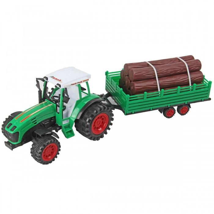 цена на Машины Veld CO Машина инерционная Трактор с прицепом с бревнами