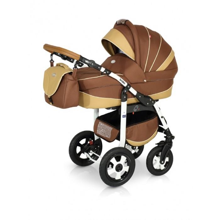 Коляска Verdi Broko 3 в 1Broko 3 в 1Коляска Verdi Broko 3 в 1 – многофункциональная коляска с возможностью установки просторного детского автокресла 0+.  Особенности: Люлька для младенца просторная и удобная Внутренние мягкие, натуральные ткани Внутреннее пространство люльки- вентилируемое Регулируемый наклон спинки; Бесшумно складывающийся капюшон с дополнительным козырьком от дождя и ветра, карманом и смотровым окошком Люльку можно использовать как колыбельку для укачивания малыша Специальные ткани верхнего защитного покрытия прекрасно защищают в плохую погоду, легко чистится Нижняя часть капора отстегивается позволяя малышу дышать свежим воздухом, а вставка из москитной сетки защитит от насекомых На капоре есть солнцезащитный козырек, который увеличивается, благодаря спрятанной силиконовой вставке На капоре имеется удобная ручка для переноски люльки Размеры люльки: 90х40х25 Прогулочный блок: Регулируемая спинка прогулочного блока Окошко в капоре, прикрытое сеточкой (прекрасно пригодится в жаркий летний день) Верхнее покрытие коляски не пропускает влагу, легко очищается Регулируемая подножка Съемный защитный бампер для рук ребенка Накидка на ножки с высоким бортом Пятиточечные ремни безопасности Удобная ручка для переноски Размеры прогулки: 94х43 Шасси: Легкая алюминиевая рама Колеса надувные Передние колеса коляски легко вращаются на 360° Регулируемая по высоте ручка Вместительная багажная корзина Автокресло: люлька-переноска, группа 0+ (0-13 кг) тканевая люлька с жестким дном   удобная ручка для переноски, расположенная  на капюшоне  бесшумный механизм регулировки капюшона  внутренняя вкладка выполнена из 100% хлопка, легко снимается для стирки;  матрасик для новорожденного возможность установки люльки в 2 положениях (лицом к маме, или лицом по направлению движения коляски) Bec (рама с блоком для новорожденного): 12кг<br>