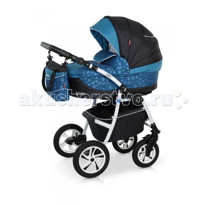 Коляска Verdi Lider Luxe 3 в 1Lider Luxe 3 в 1Коляска Verdi Lider Luxe 3 в 1 – многофункциональная коляска с возможностью установки просторного детского автокресла 0+.  Особенности: Люлька для младенца просторная и удобная, предназначена для малыша от рождения до 6-ти месяцев (87*39см!); Внутренние мягкие, натуральные ткани; Внутреннее пространство люльки- вентилируемое; Наполнитель матрасика легко пропускает воздух, подходит и для более чувствительных детишек; Регулируемый наклон спинки; Бесшумно складывающийся капюшон с дополнительным козырьком от дождя и ветра, карманом и смотровым окошком; Люльку можно использовать как колыбельку для укачивания малыша; Специальные ткани верхнего защитного покрытия прекрасно защищают в плохую погоду, легко чистится; Нижняя часть капора отстегивается позволяя малышу дышать свежим воздухом, а вставка из москитной сетки защитит от насекомых; На капоре есть солнцезащитный козырек, который увеличивается, благодаря спрятанной силиконовой вставке; На капоре имеется удобная ручка для переноски люльки Прогулочный блок: Широкое посадочное место (ширина 40 см!) Регулируемая спинка прогулочного блока (раскладывается до 175°); Окошко в капоре, прикрытое сеточкой (прекрасно пригодится в жаркий летний день); Верхнее покрытие коляски не пропускает влагу, легко очищается; Регулируемая подножка; Съемный защитный бампер для рук ребенка; Накидка на ножки с высоким бортом. Пятиточечные ремни безопасности; Регулируемый капюшон; Накидка на ножки; Удобная ручка для переноски Шасси: Легкая алюминиевая рама; Колеса надувные; Передние колеса коляски легко вращаются на 360°; 2 положения подвески: мягкое - для новорожденного (ребенка можно качать) или жесткое, более спортивное - для прогулок по дорожкам в парке; Регулируемая по высоте ручка; Вместительная багажная корзина Автокресло: люлька-переноска, группа 0+ (0-13 кг) тканевая люлька с жестким дном   удобная ручка для переноски, расположенная  на капюшоне  бесшумный механизм регулировки капюшона  внутренн