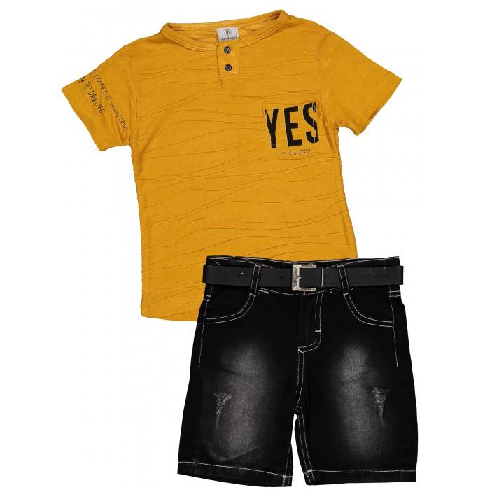 Verscon Комплект для мальчика Футболка и шорты с ремнем фото