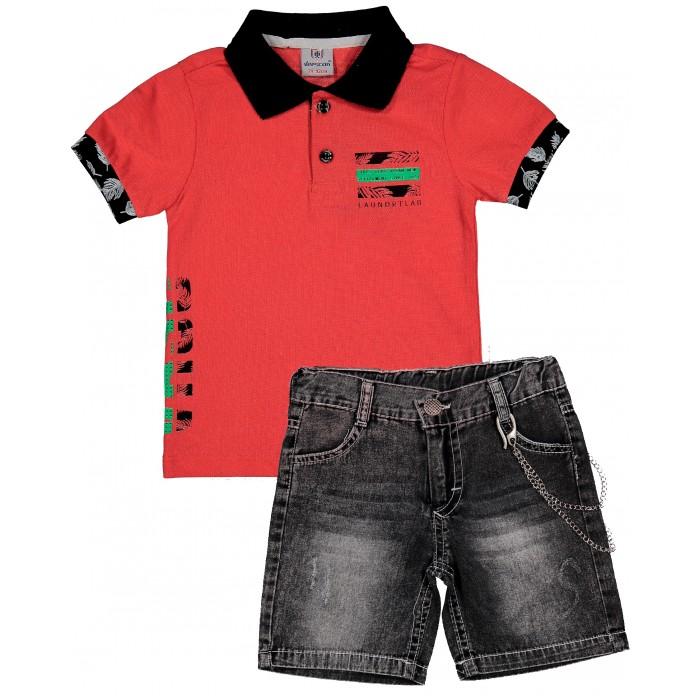 Комплекты детской одежды Verscon Комплект для мальчика Футболка поло и шорты комплекты детской одежды elaria комплект для мальчика футболка и шорты bks01 8
