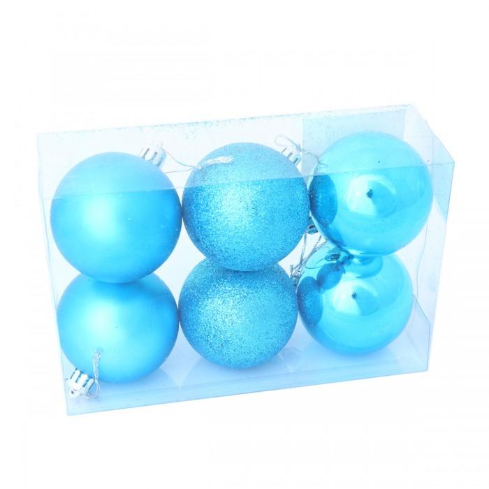 Фото - Елочные игрушки Веселый хоровод Набор ёлочных пластиковых шаров 6 см 6 шт. набор стеклянных шаров рождественские сны 60 мм 20 шт