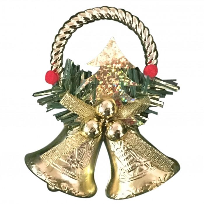 Новогодние украшения Веселый хоровод Новогоднее украшение Колокольчики 11.5х9.5 см