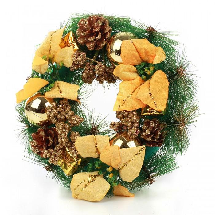 Купить Новогодние украшения, Веселый хоровод Новогодний венок 30 см