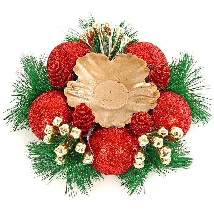 Новогодние украшения Веселый хоровод Подсвечник новогодний 14 см