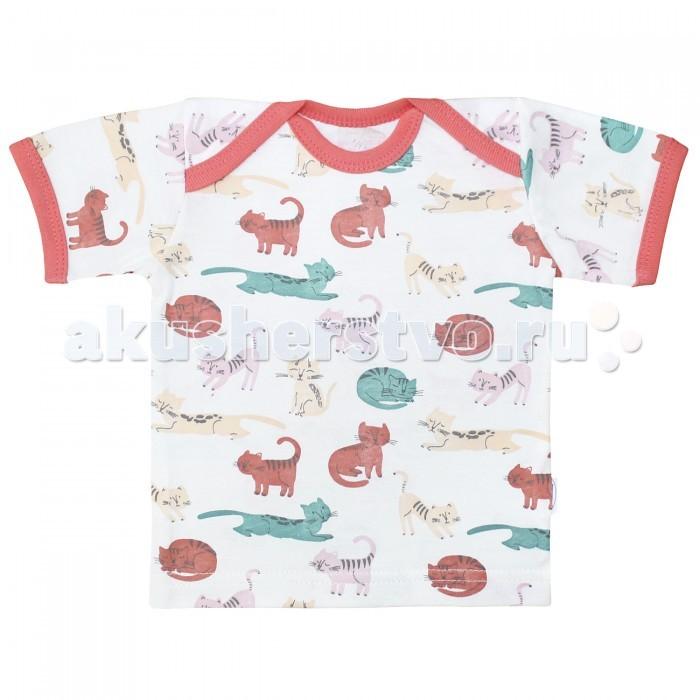 Футболки и топы Веселый малыш Футболка Кошки 61172 детская одежда