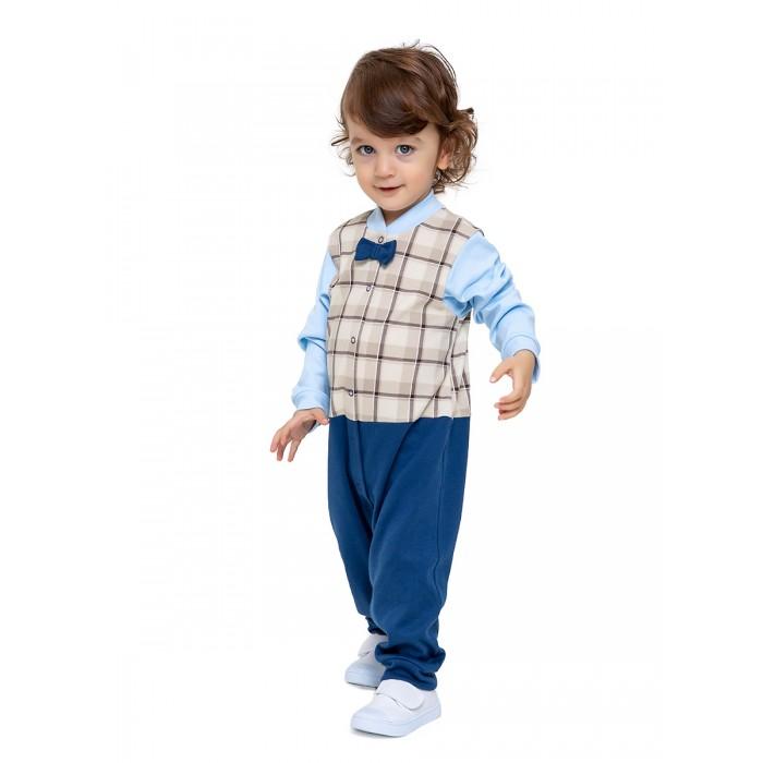 Картинка для Веселый малыш Комбинезон с бабочкой Маленький джентельмен 357/322