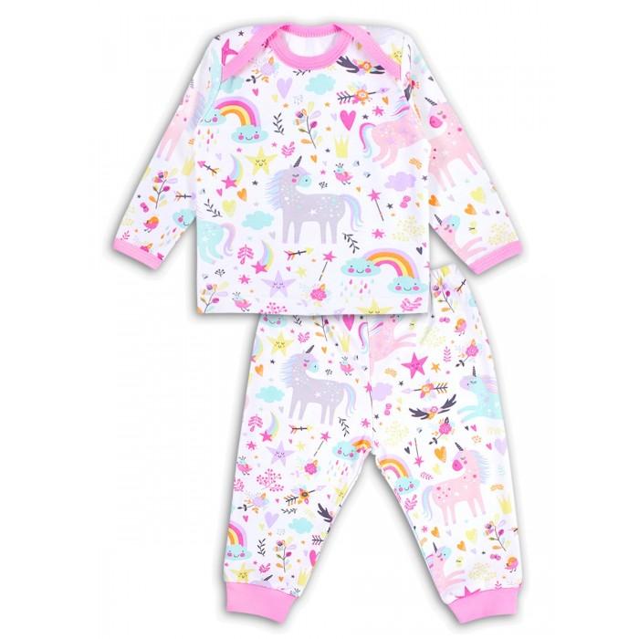 Купить Комплекты детской одежды, Веселый малыш Комплект для девочки (фуфайка, штанишки) Единорожка
