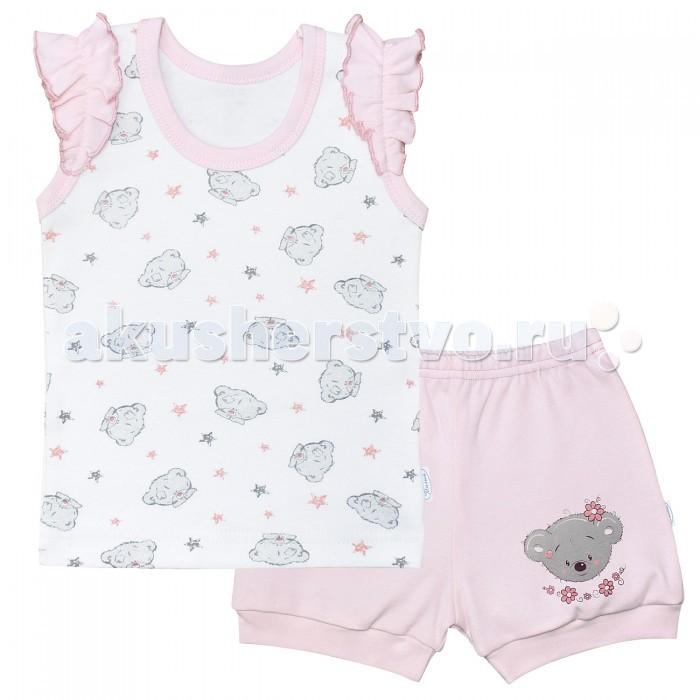 Комплекты детской одежды Веселый малыш Комплект для девочки Мишель (футболка, шорты)