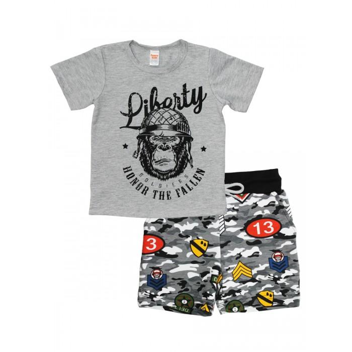 Веселый малыш Комплект для мальчика футболка и шорты Победитель