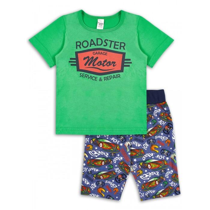 Комплекты детской одежды Веселый малыш Комплект для мальчика (футболка, шорты) Супер гонки