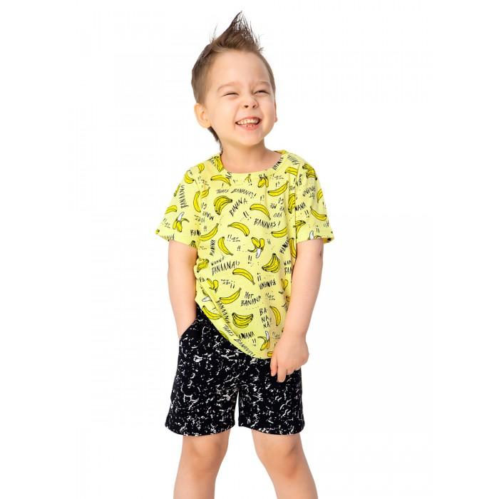 Веселый малыш Комплект для мальчика (шорты, футболка) Бананы от Веселый малыш