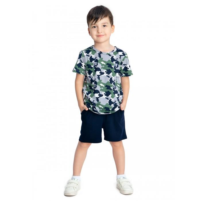 Картинка для Веселый малыш Комплект для мальчика (шорты, футболка) Милитари