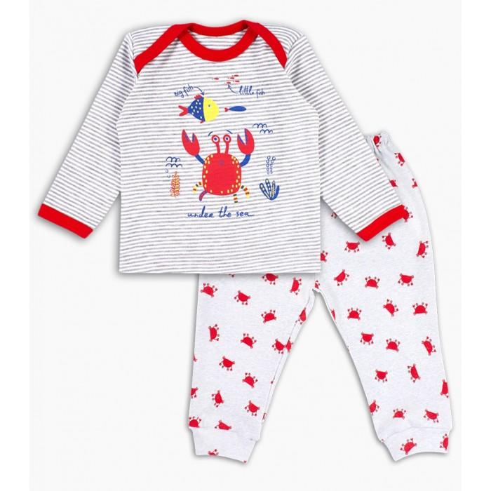 Комплекты детской одежды Веселый малыш Комплект для мальчиков (фуфайка, штанишки) Краб