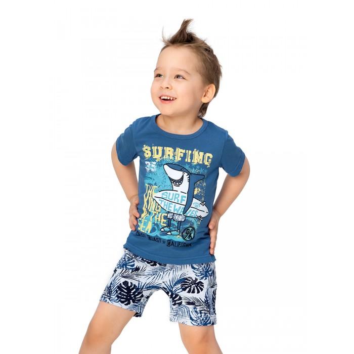 Комплекты детской одежды Веселый малыш Комплект для мальчиков (шорты, футболка) Серфер
