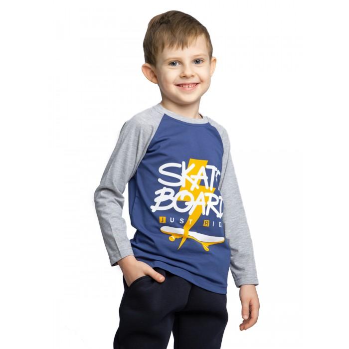 Картинка для Веселый малыш Лонгслив с рукавом реглан Скейтер