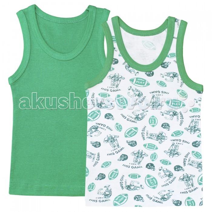 Детское белье Веселый малыш Майка для мальчика Регби 2 шт. одежда для новорождённых
