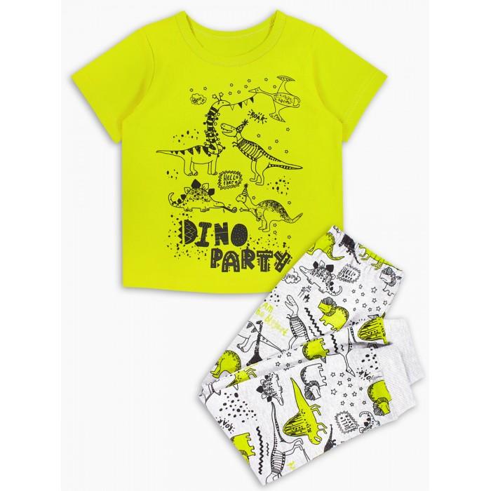 Домашняя одежда Веселый малыш Пижама детская Диновечеринка 296170