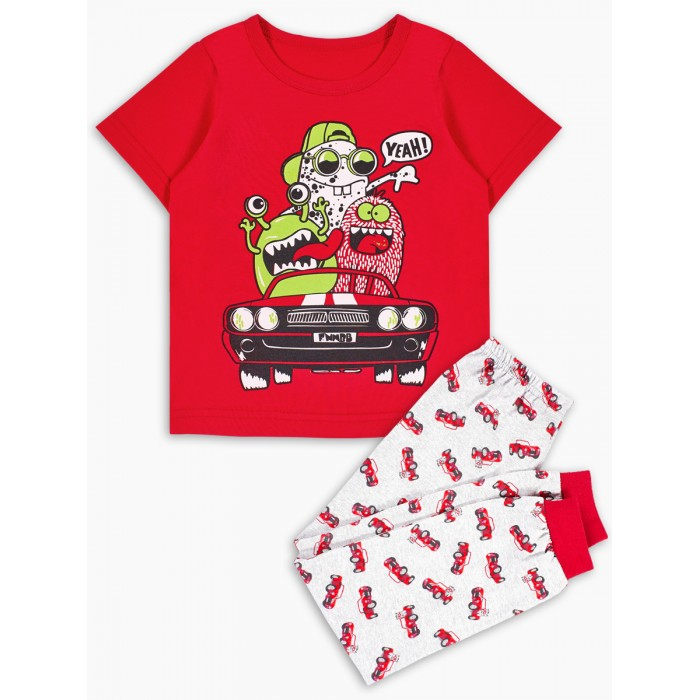 Домашняя одежда Веселый малыш Пижама детская Кабриолет 287170