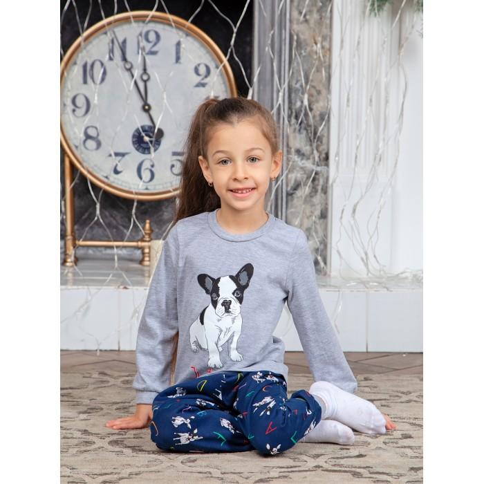 Картинка для Веселый малыш Пижама для девочки Бульдожки