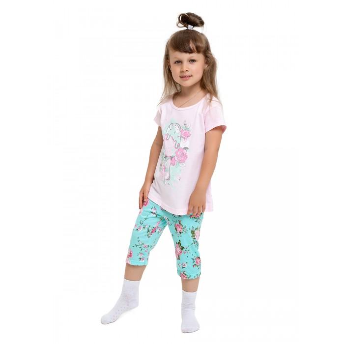 Домашняя одежда Веселый малыш Пижама для девочки Мятная нежность 561/338