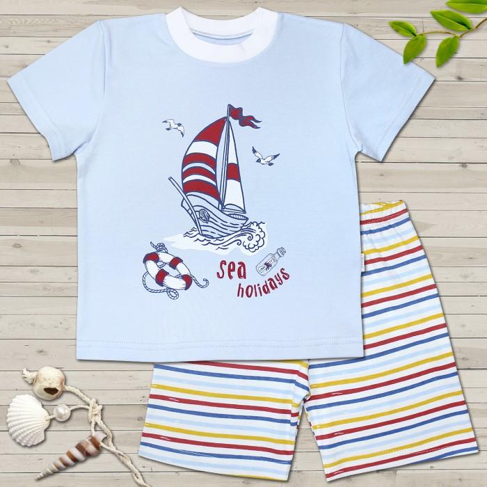 Пижамы и ночные сорочки Веселый малыш Пижама для мальчика Морская 245130 ночные сорочки и рубашки