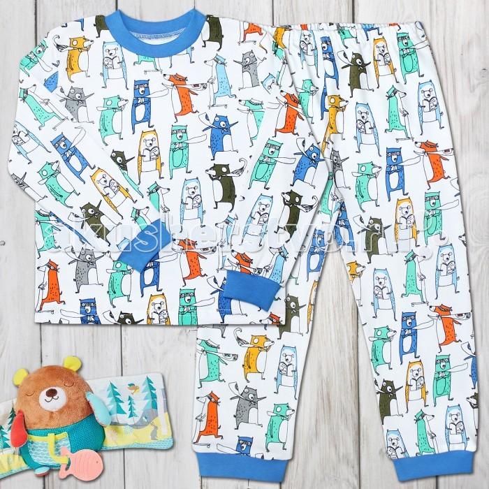 Пижамы и ночные сорочки Веселый малыш Пижама для мальчика Веселые зверята веселый малыш пижама для мальчика веселый малыш