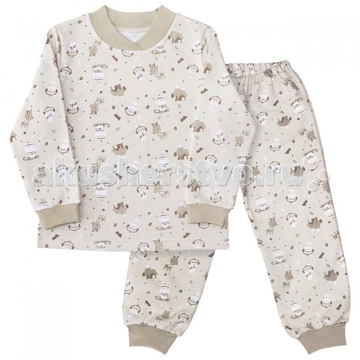 Пижамы и ночные сорочки Веселый малыш Пижама (Кофточка и штанишки) Олени распашонки и кофточки веселый малыш кофточка олени 22142