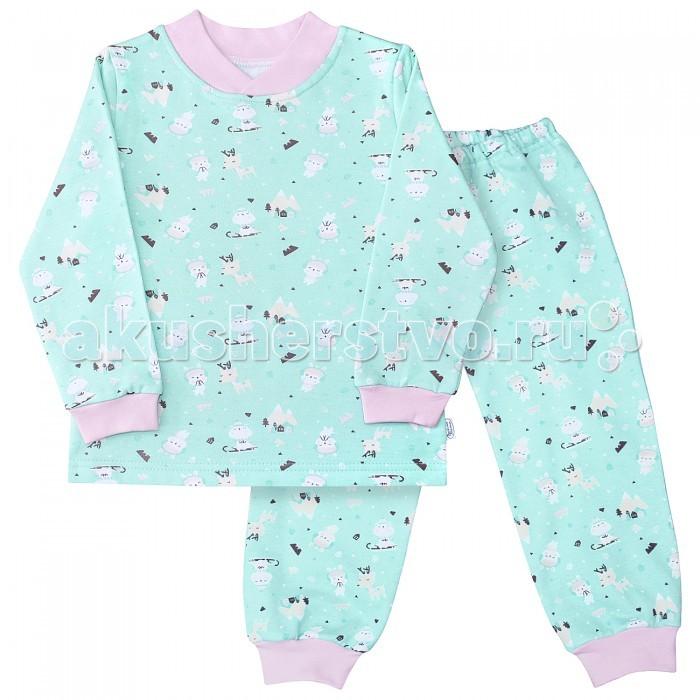Пижамы и ночные сорочки Веселый малыш Пижама (Кофточка и штанишки) Олени распашонки и кофточки веселый малыш кофточка хитрый лис 22322