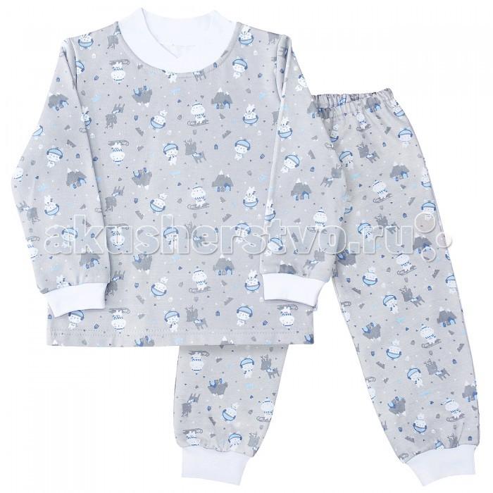 Пижамы и ночные сорочки Веселый малыш Пижама (Кофточка и штанишки) Олени пижамы и ночные сорочки веселый малыш пижама пингвины 9315