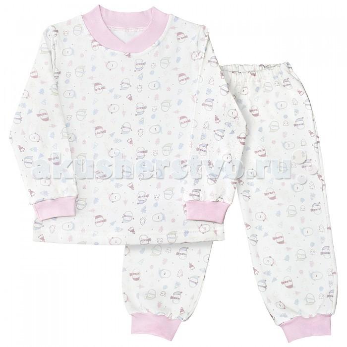 Пижамы и ночные сорочки Веселый малыш Пижама (Кофточка и штанишки) Пингвины брюки джинсы и штанишки веселый малыш штанишки пингвины 33140