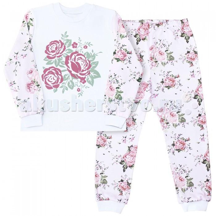 Пижамы и ночные сорочки Веселый малыш Пижама (Кофточка и штанишки) Розы 239130 пижамы и ночные сорочки веселый малыш пижама друзья 230320