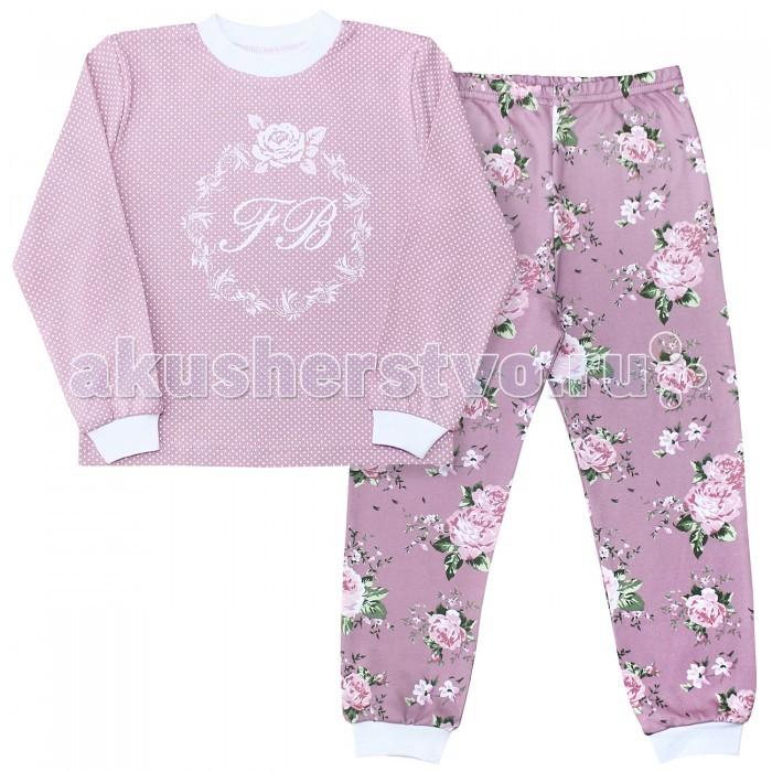 Пижамы и ночные сорочки Веселый малыш Пижама (Кофточка и штанишки) Розы 239130