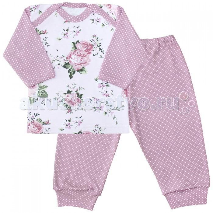 Пижамы и ночные сорочки Веселый малыш Пижама (Кофточка и штанишки) Розы
