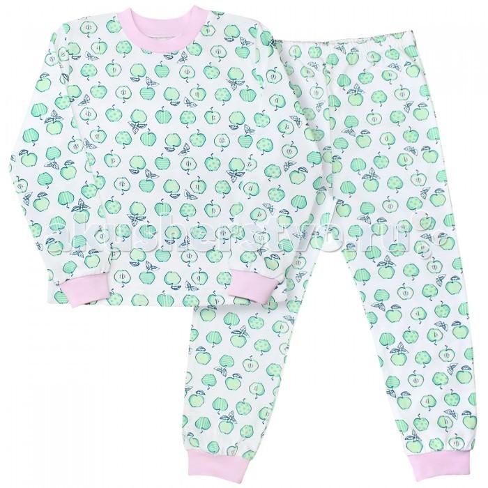 Пижамы и ночные сорочки Веселый малыш Пижама (Кофточка и штанишки) Яблоки пижамы и ночные сорочки веселый малыш пижама мятный зайка 623332