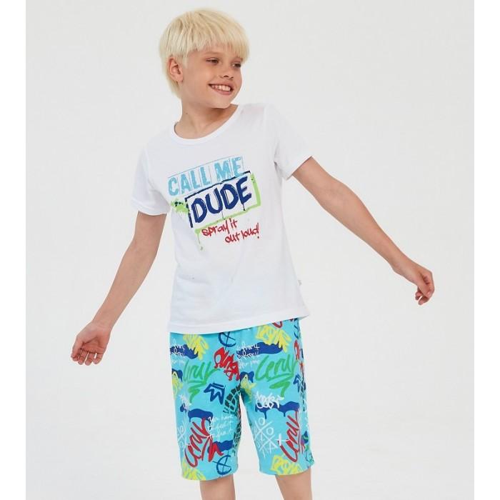 Фото - Домашняя одежда Веселый малыш Пижама с шортами Граффити домашняя одежда веселый малыш пижама для девочки терьер