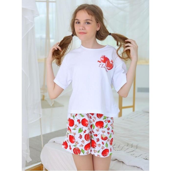 Домашняя одежда Веселый малыш Пижама с шортами Гранат