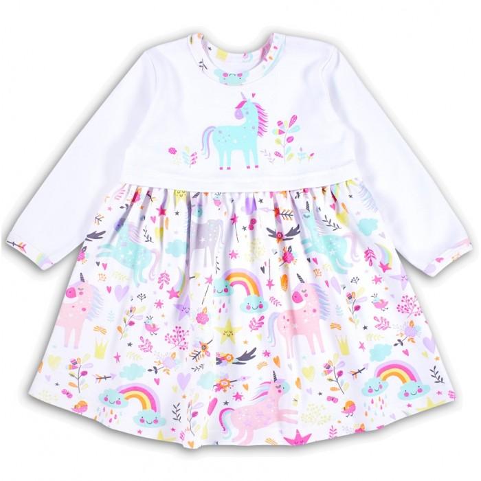 Платья и сарафаны Веселый малыш Платье с длинным рукавом Единорожка