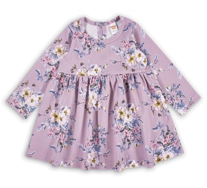 Платья и сарафаны Веселый малыш Платье с длинным рукавом Лиловый букетик