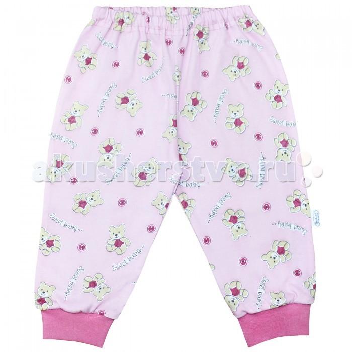 Брюки, джинсы и штанишки Веселый малыш Штанишки для девочки Милый мишка 33170/one/ брюки джинсы и штанишки веселый малыш штанишки для девочки розочки синие